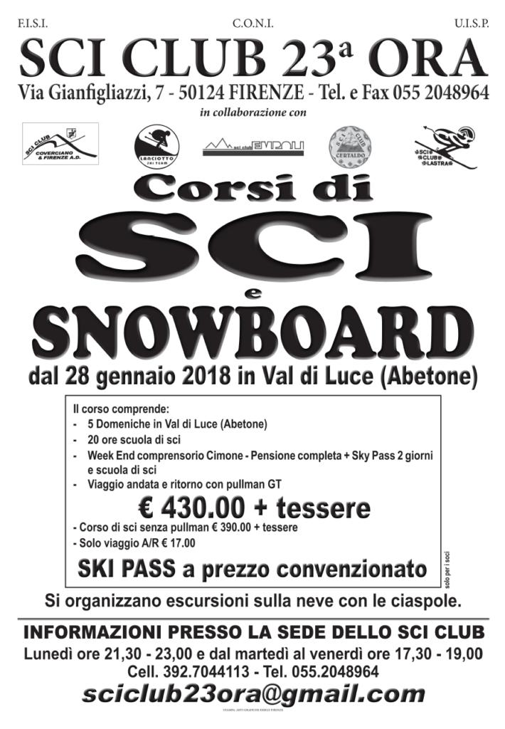 Corsi SCI e SNOWBOARD 2018
